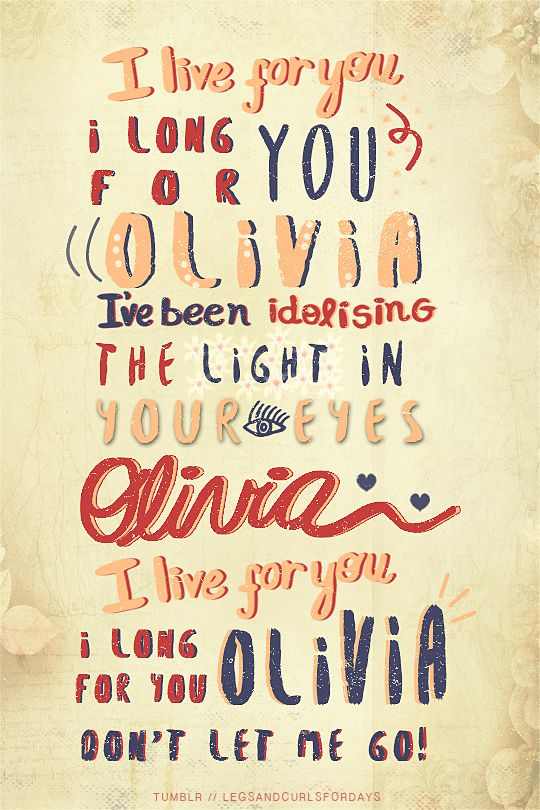 Olivia // One Direction
