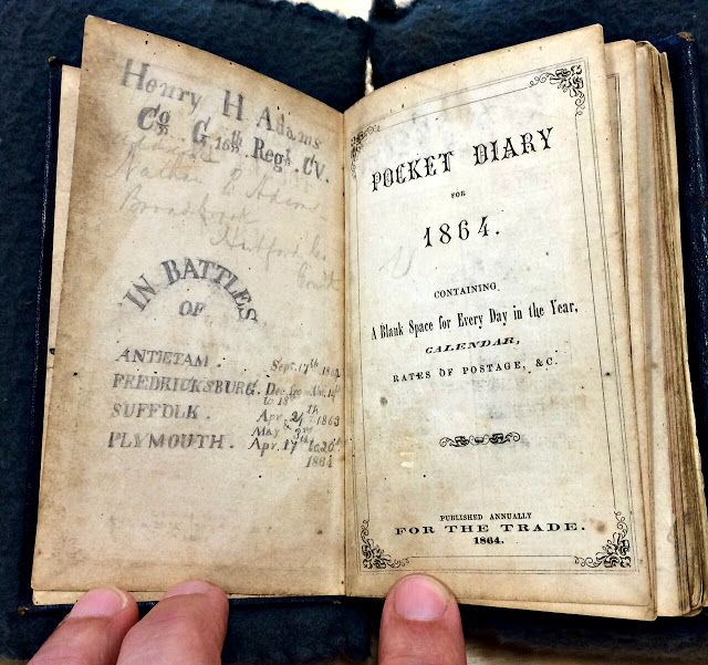 JOHN BANKS' CIVIL WAR BLOG: A haunting final entry in 16th Connecticut soldier's diary