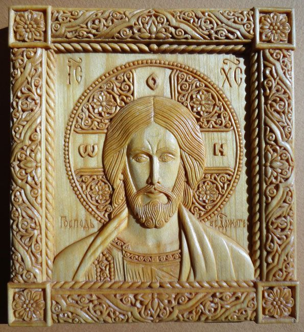 icon The Lord Almighty 12×13.3×1.6 cm; linden wood, natural linen oil varnish, 2003; the property of the artists