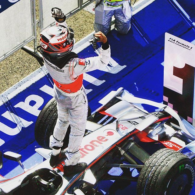 #OnThisDay in 2008 Heikki Kovalainen scored his first win in #F1 when triumphant for #McLaren at the #HungarianGP on a day when leader Felipe Massa was particularly unlucky being forced to retire 3 laps from the end. #65YearsOfF1 by f1