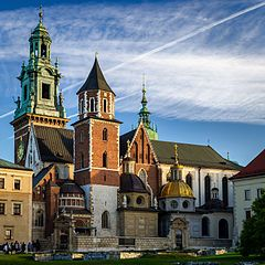 Wawel Cathedral, view from the south west.