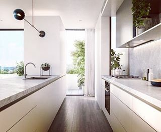 "870 Likes, 4 Comments - Soft Minimalism Lifestyling (@simple.form) on Instagram: ""•• Perfect placement of the Kubus - in the heart of the home. Kitchen design. Kitchen goals by…"""
