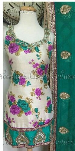 Floral Salwar Suit punjabi suit - to order or purchase query whatsapp +917696747289 visit us at https://www.facebook.com/punjabisboutique @nivetas @nivetas @nivetas