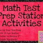 I am so excited to offer these grade 5 math test prep stations to help you spice up your math review before testing!  There are 10 fun stations wit...