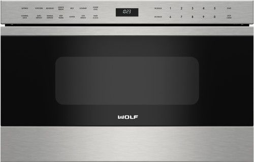Wolf MD24TES 24 Inch Microwave Drawer with 1.2 cu. ft. Capacity, 950 Watts Cooking Power, 10 Power Levels, Keep Warm Mode, Kitchen Timer and Control Panel Lock