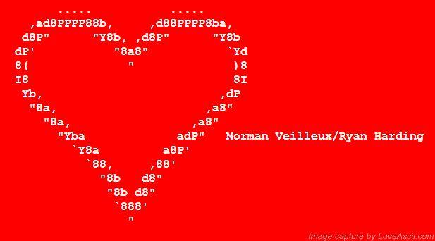 One Line Ascii Art Hearts : Best ascii art images on pinterest