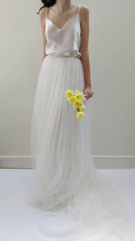 Hochzeitskleid/Brautkleid trennt – Seide Tüll Wedding Gown Skirt