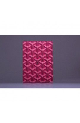 Goyard Passport Holder Rose Red