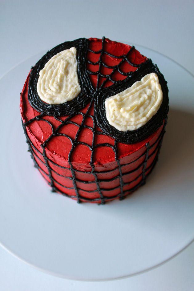 Mini Spiderman Cake