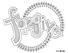 forgive free motivational and inspirational word coloring pages - Inspirational Word Coloring Pages