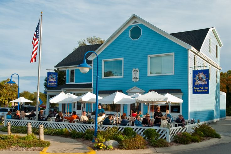 Shipwrecked Restaurant, Brew Pub & Inn.  Egg Harbor in Door County, Wisoncsin.