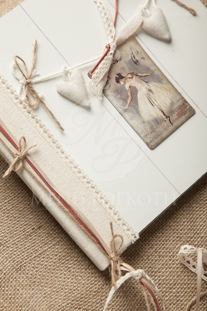 Shabby chic girls guest book ballerina themed
