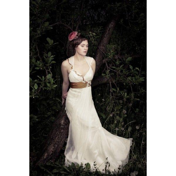 Sweetheart Floor length Silk Chiffon Ivory Wedding Dress. #Straps, #Ivory, #Corset, #Silk, #Chiffon, #Wedding, #Dress, #Bridal. Only $361.99