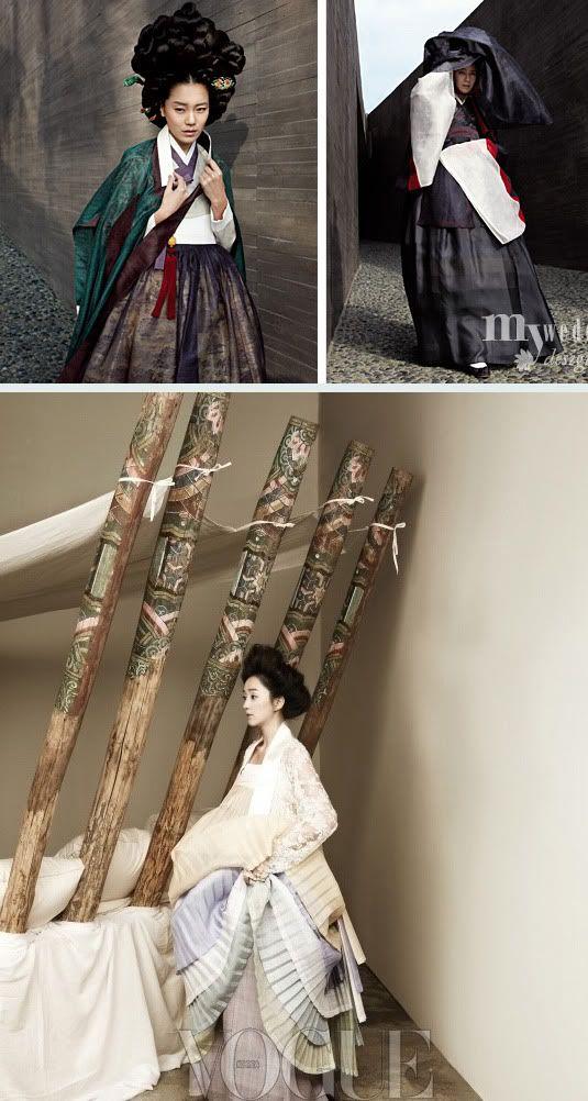 gisaeng inspired modern hanboks