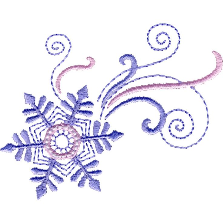 Free Embroidery Design: Dancing Snowflake