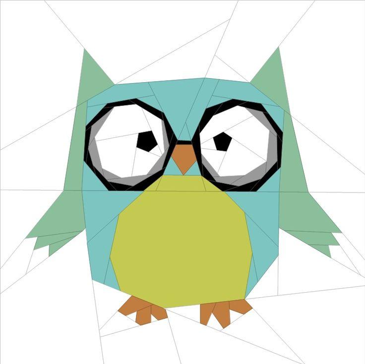 "Forest Chums - Owl 12"" (31cm) quiltartdesigns.blogspot.com"