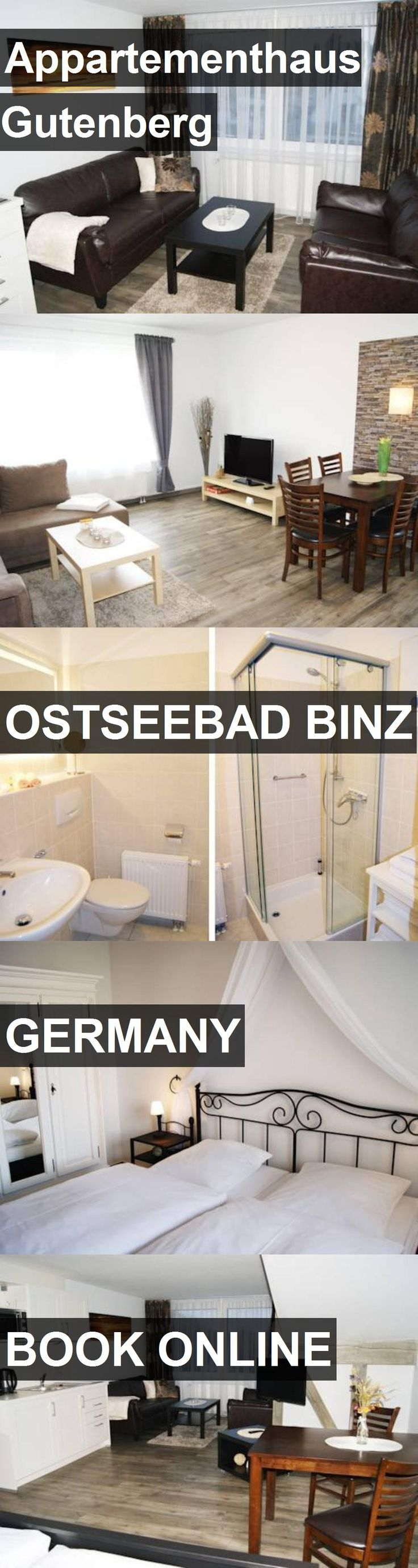 Hotel Appartementhaus Gutenberg in Ostseebad Binz, Germany. For more information, photos, reviews and best prices please follow the link. #Germany #OstseebadBinz #travel #vacation #hotel