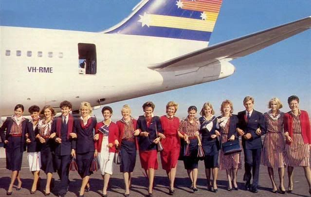 Ansett The look in the late 80's.