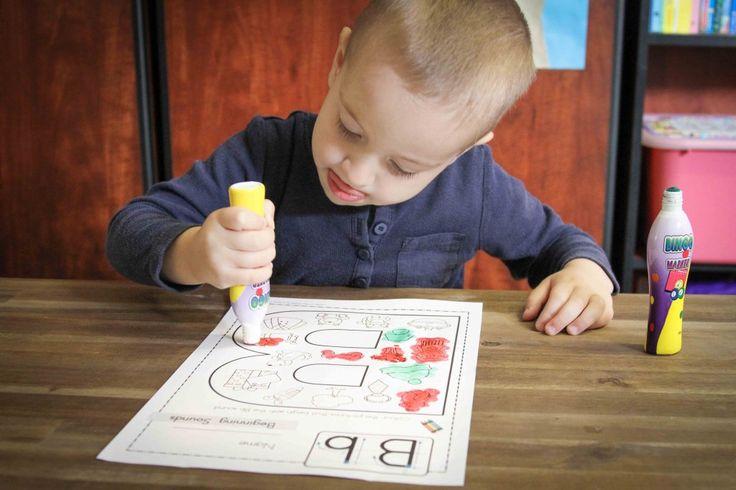 Preschool Letter Bb: Beginning Sounds Colouring - Bb