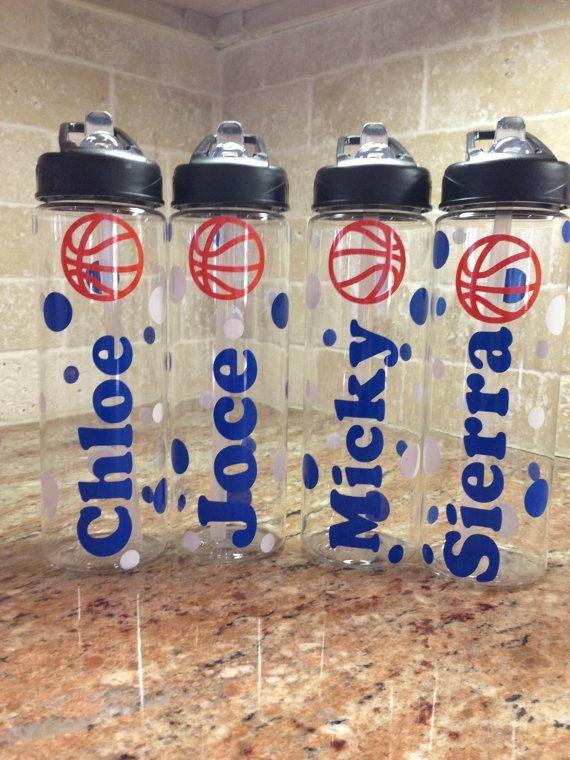 Personalized Basketball Water Bottles Team Gifts On Etsy