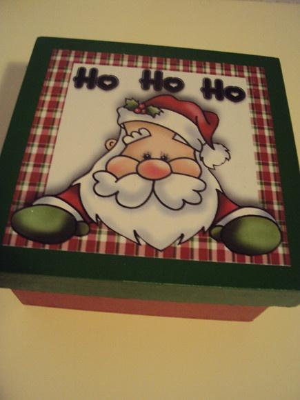 Caixa com sabonete Papai Noel
