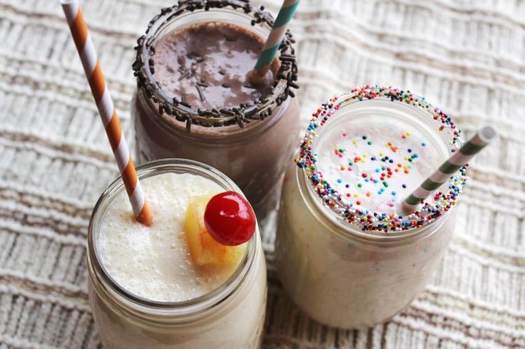 3 cake batter milkshake recipes