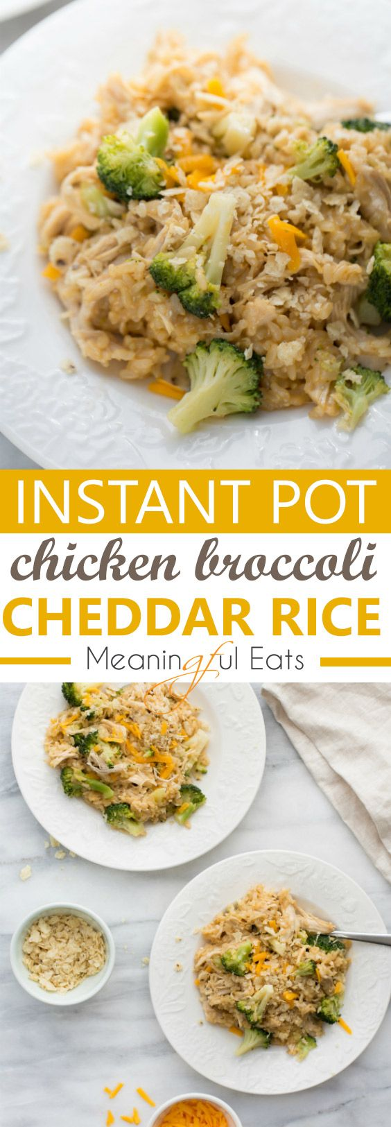 Instant Pot Cheesy Chicken Broccoli and Rice - Meaningful Eats