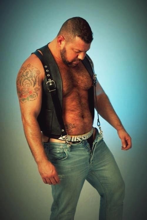 hairy bear leather