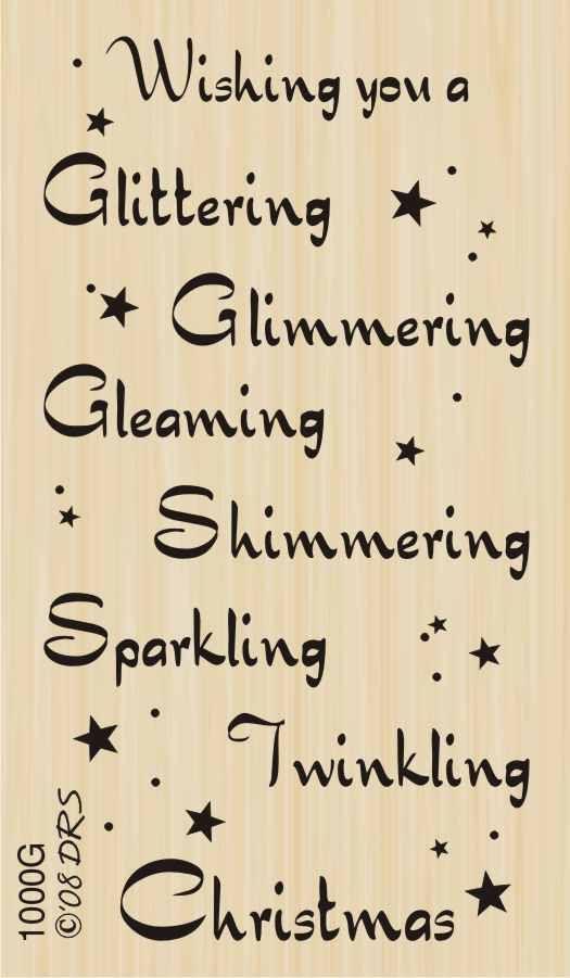 DRS Designs - Glittering Twinkling Christmas Greeting, $10.00 (http://www.drsdesigns.com/glittering-twinkling-christmas-greeting/)