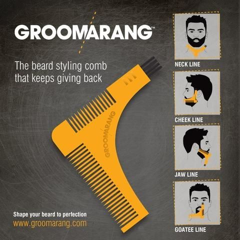 Groomarang Beard Shaping & Styling Template Comb