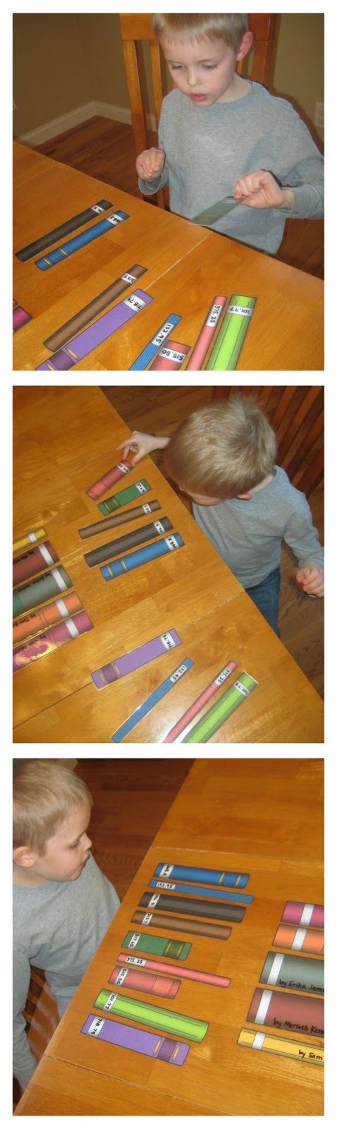 "Let's Play Library! [An Alphabetizing & Sequencing Activity] Link has printable ""books"" for the activity. Elementary Library activity."