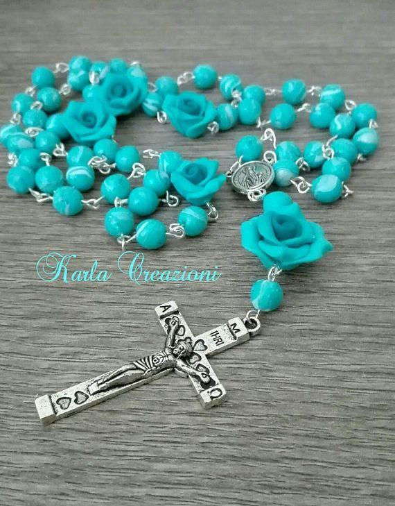 Guarda questo articolo nel mio negozio Etsy https://www.etsy.com/it/listing/550101843/rosario-religioso-ragazze-donne