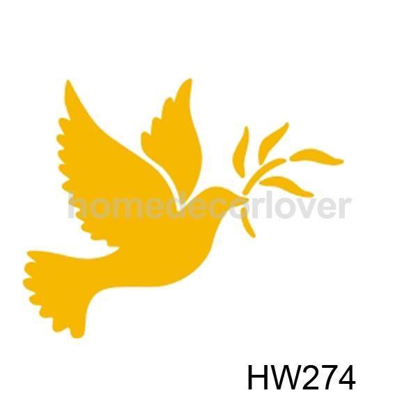 Pas cher colombe de paix motif peinture murale de motif au pochoir accueil art d cor acheter for Peinture murale pailletee pas cher