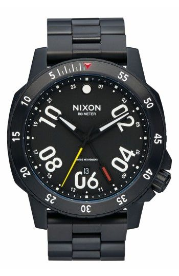 NIXON MEN'S NIXON 'RANGER GMT' BRACELET WATCH, 44MM. #nixon #