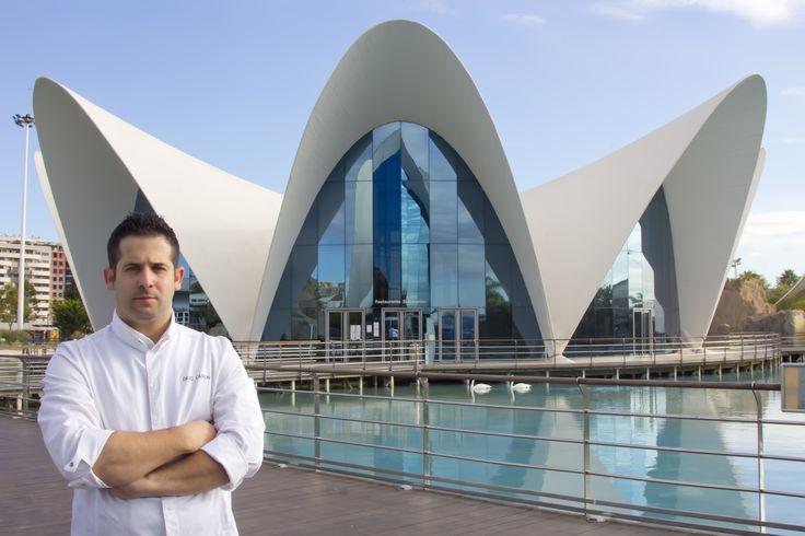 David Carrión al frente del #Restaurante Submarino. #Oceanografic #Valencia www.restaurantesubmarino.es