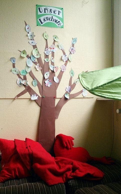 Wie fördert ihr die Lesemotivation bei euren Schülerinnen und Schülern? In unserer Klasse wächst ein Lesebaum, der die Kinder zum Lesen animiert.