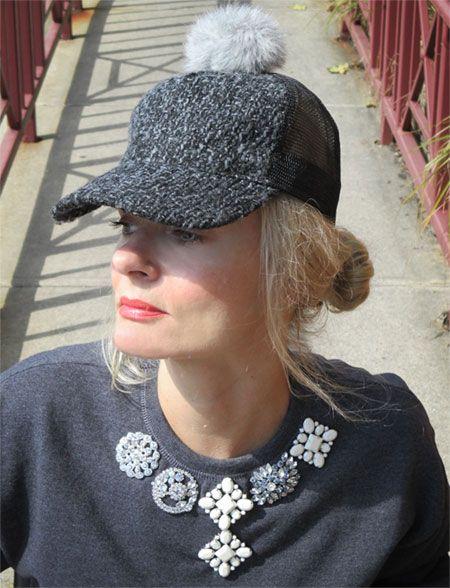 #PFW, Parkway Fashion Week-Magdalena in PomPom trucker hat and #JamieKreitman Glam sweatshirt