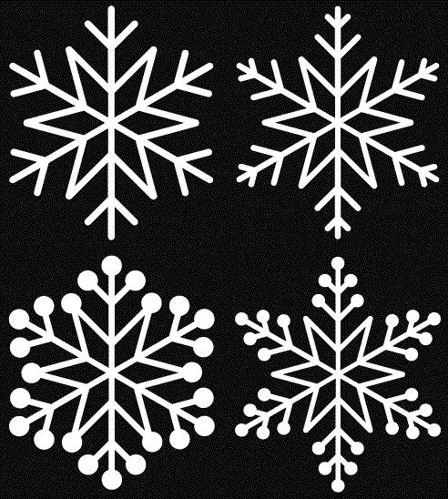 Snowflakes - a set of 5 free cut files (and many other Christmas-themed files too)