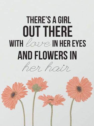 Flowers In Her Hair Art Print Quotes Galore Pinterest Hair