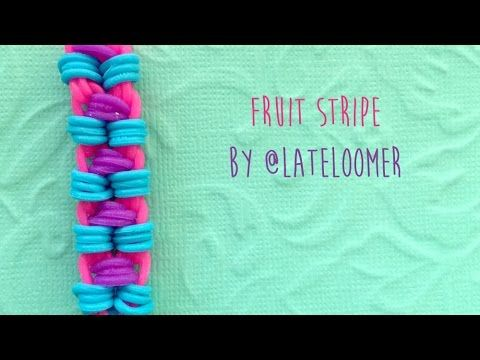 Check out this Rainbow Loom tutorial on how to make the Fruit Stripe Bracelet designed by @LateLoomer on Instagram. Fun and cute two peg pattern. This design...
