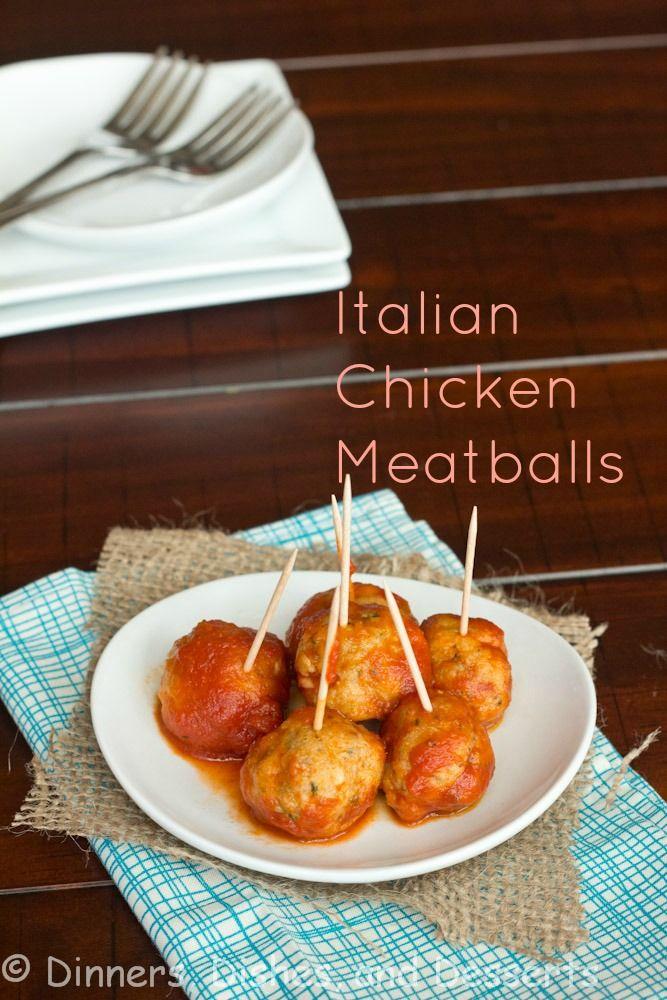 Italian Meatballs | @dinnersdishesdessert