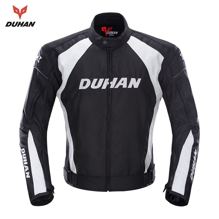 DUHAN Men's Motorcycle Windproof Riding Off-Road Racing Sports Jacket Clothing With Five Protector Guards