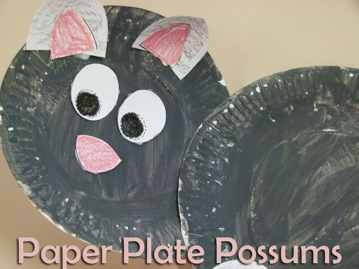 Paper Plate Possum :: Lessons from a Teacher