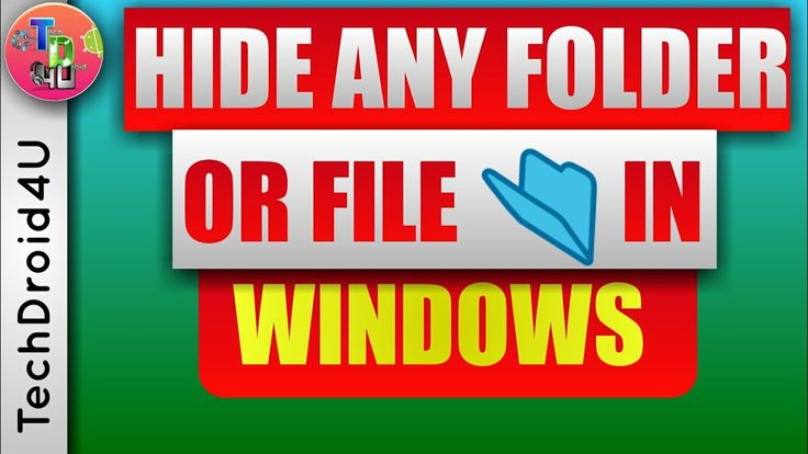 How to hide folder in windows 10 | hide files in windows | TechDroid4U https://youtu.be/C3TCkzsPQkY