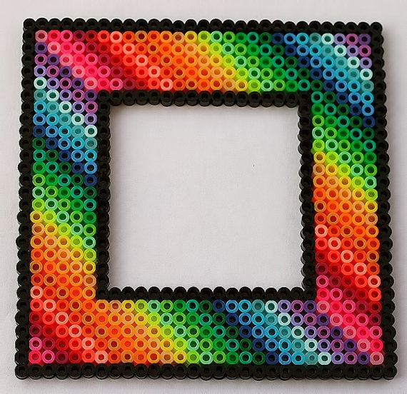 Rainbow Picture Frame Fridge Magnet by LunasRealm
