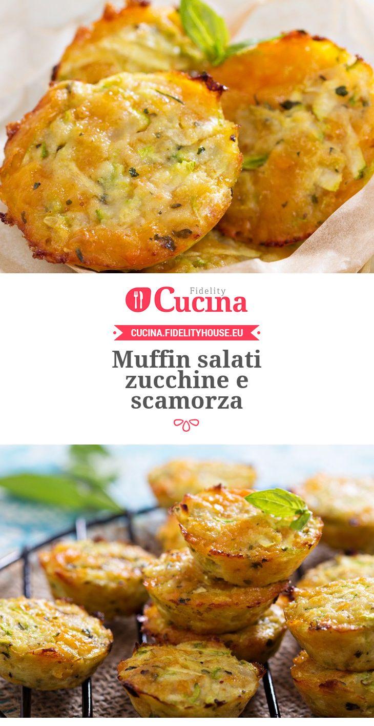 #Muffin salati #zucchine e #scamorza