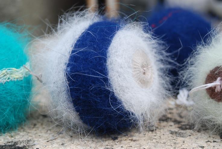 Tissage. Angora et coton. Par Atelier La Boîte À Muses