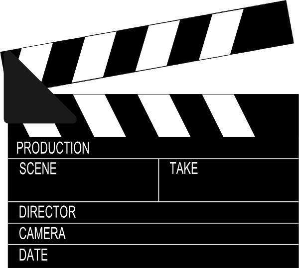 hollywood clip art | Lights Camera Action (hollywood) clip art - vector clip art online ...