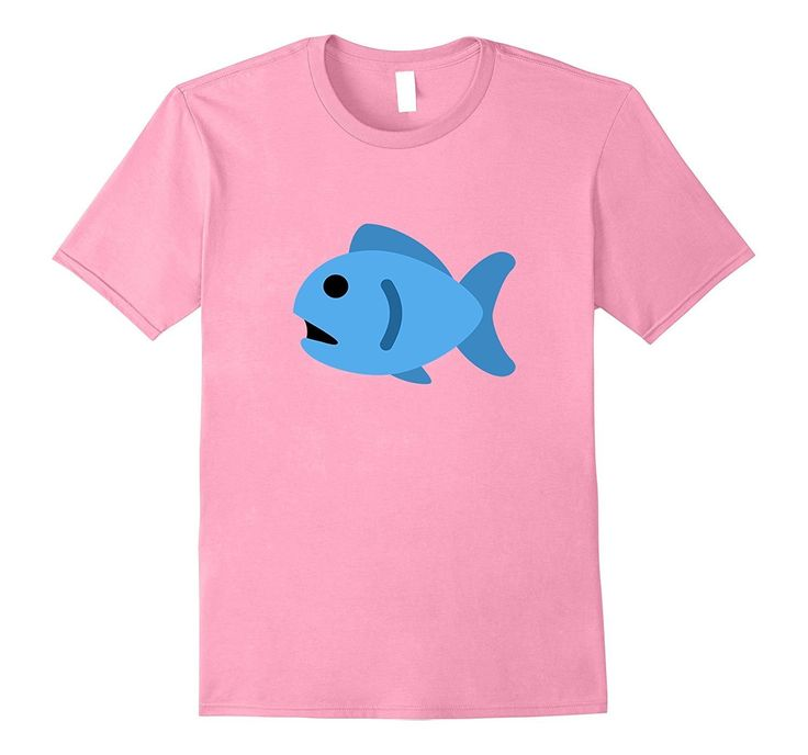 Fish Emoji T-Shirt Blue Fishing Pole Ocean Water