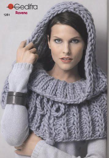 gorro cuello a crochet